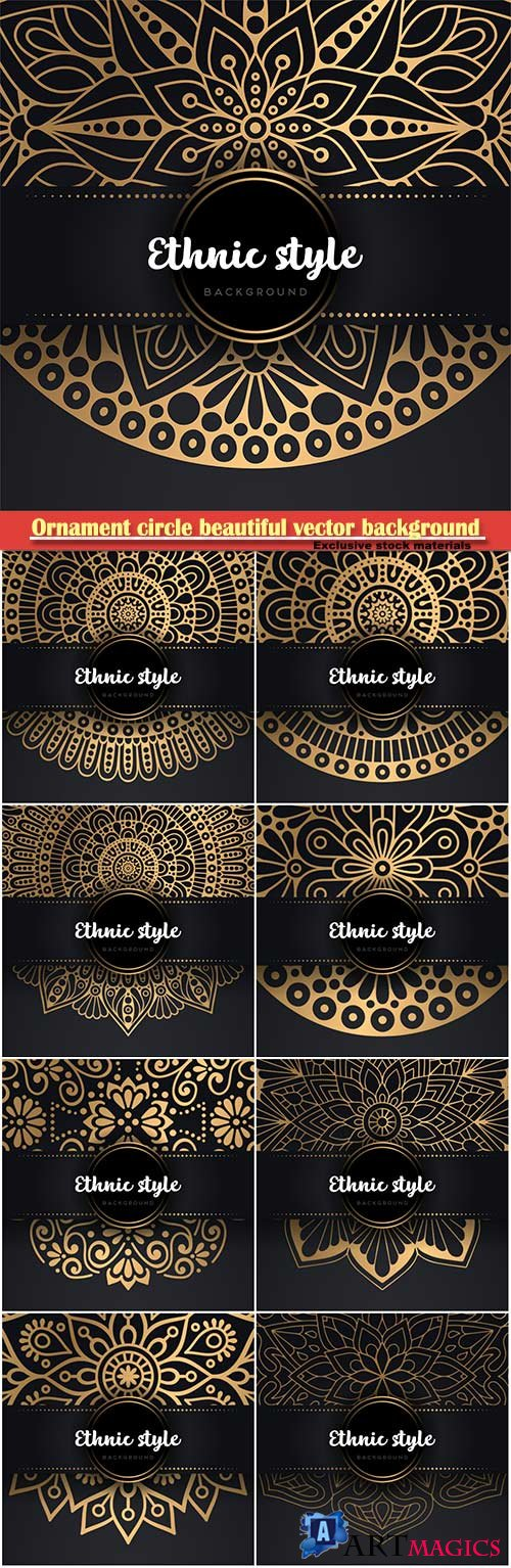 Ornament circle beautiful vector background