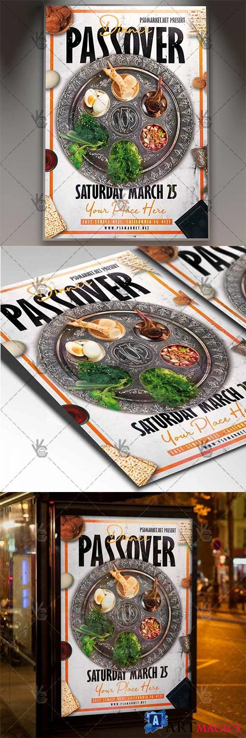 Passover Dinner Flyer – Islamic PSD Template