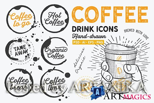 Coffee To Go Hand-Drawn Graphic