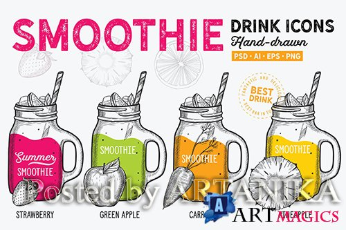 Smoothie Hand-Drawn Graphic