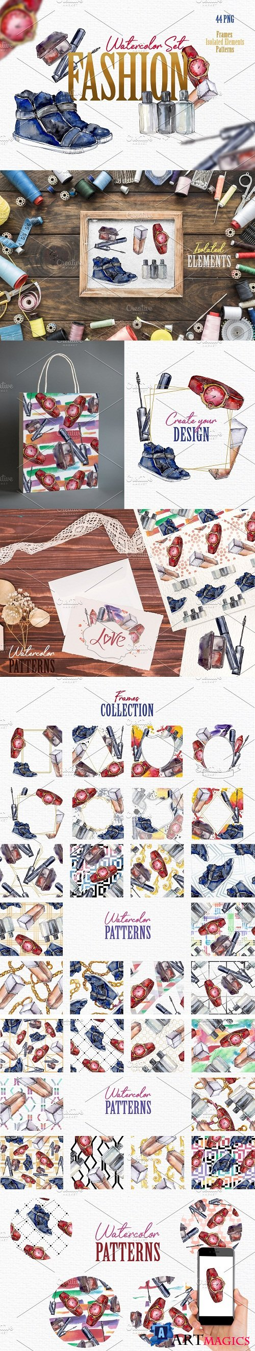Fashion Watercolor png - 3738200