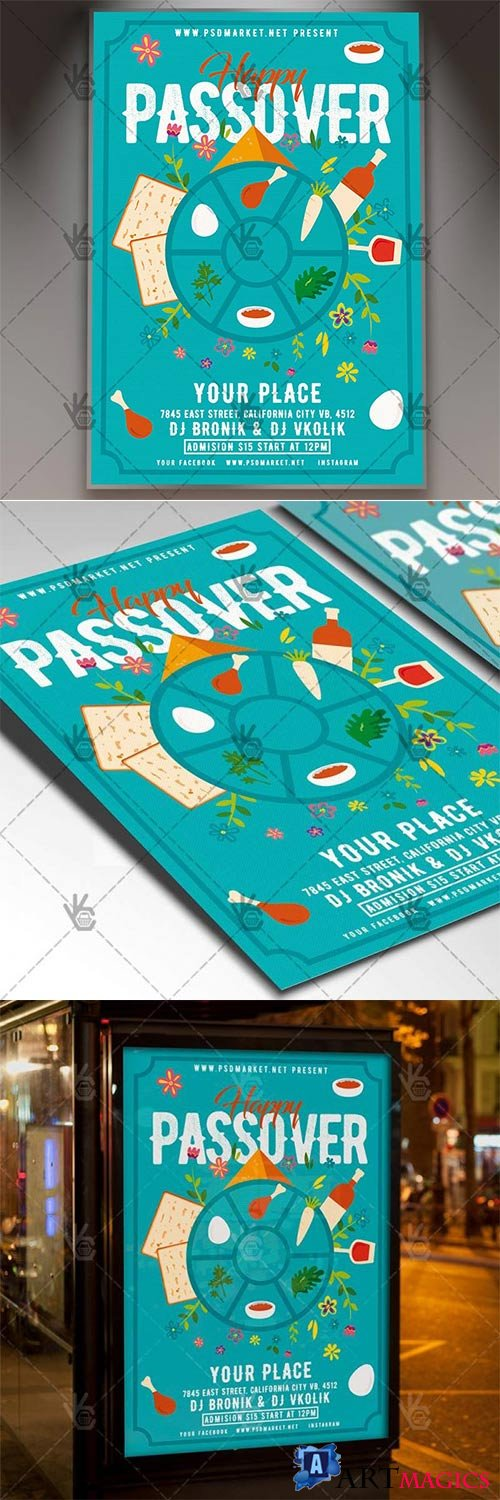 Happy Passover Flyer – Spring PSD Template