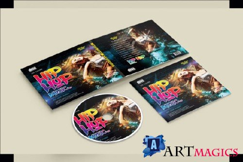 Hip Hop Music -CD Cover PSD Template