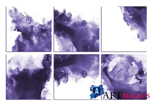 Purple Watercolor Backgrounds - 3062997