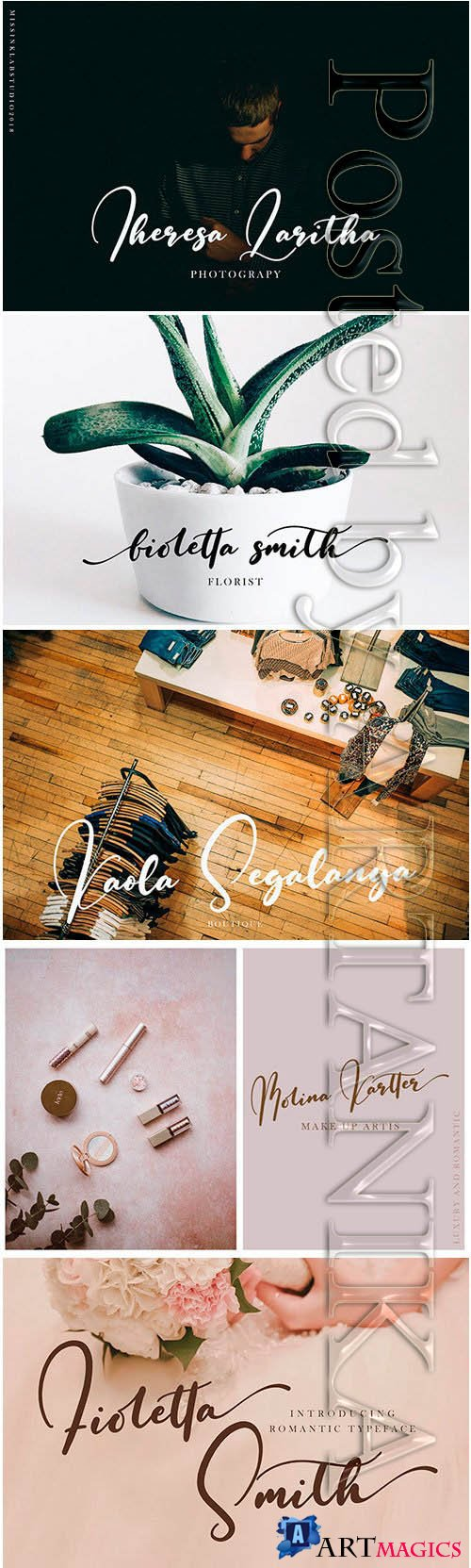 Fioletta Smith Romantic Typeface Font