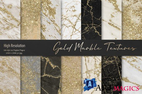 Gold Marble Digital Paper