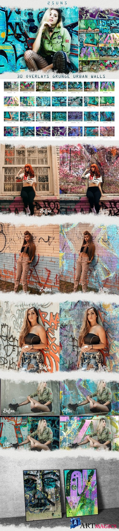 30 Urban grunge walls overlays graffity textures photo vol2 - 255287