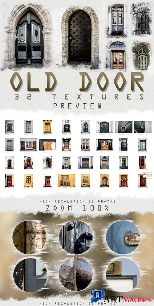 33 OLD and URBAN DOOR photo textures overlays pack Middle 257495