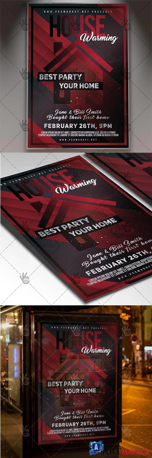 House Warming Party – Community Flyer PSD Template