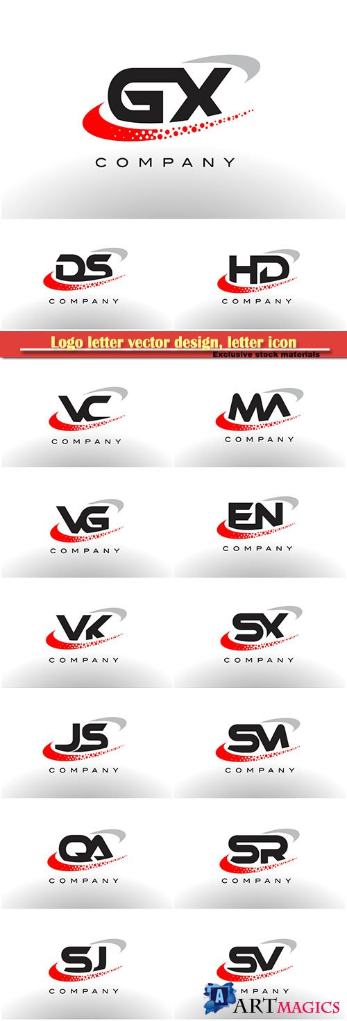 Logo letter vector design, letter icon # 5