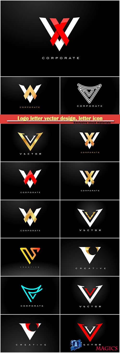 Logo letter vector design, letter icon # 9