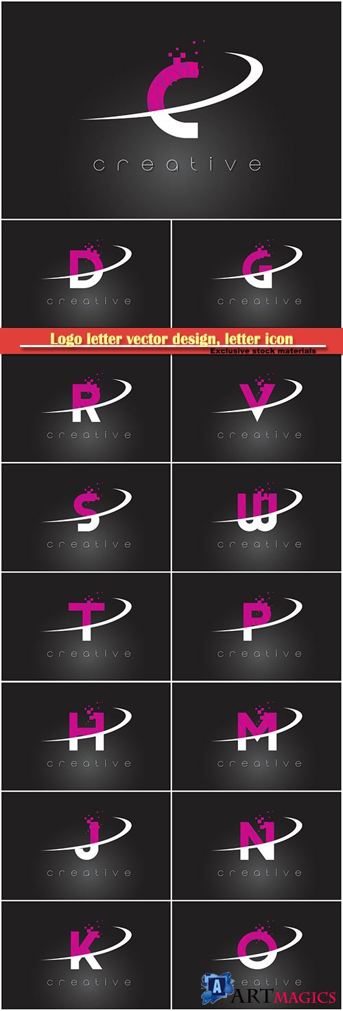 Logo letter vector design, letter icon # 7