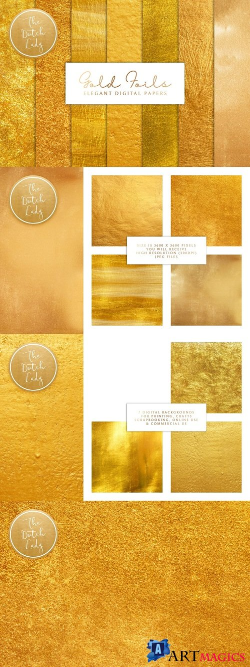 Gold Foil Texture Scrapbook Papers 3783860