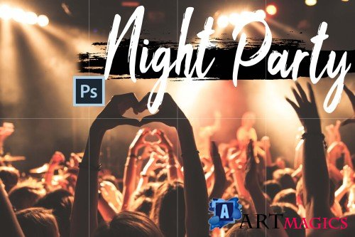 Neo Night Party Color Grading photoshop actions, ACR LUT  - 266567