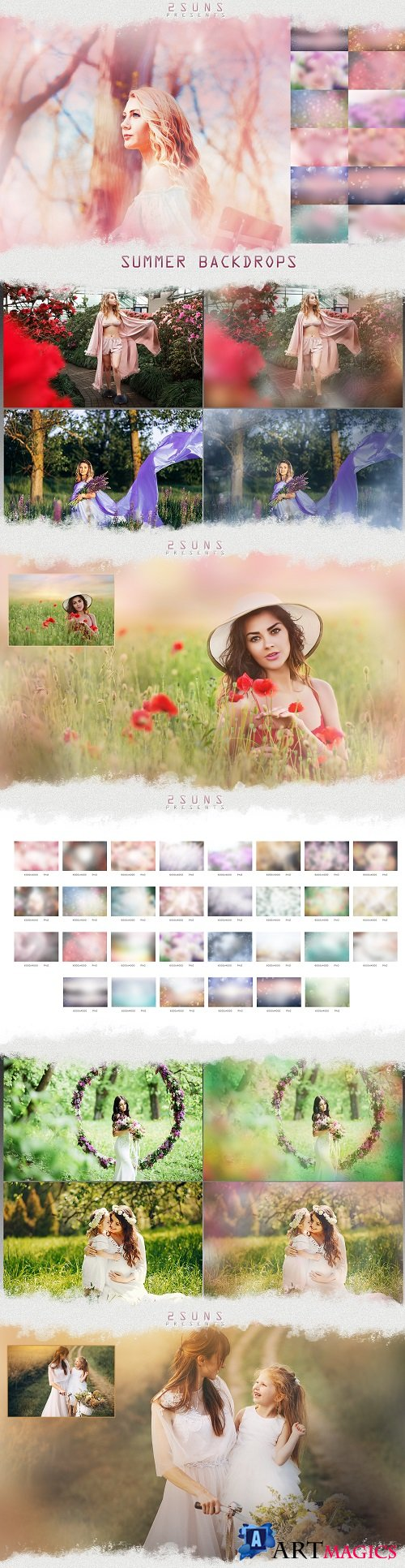 Photo overlays Summer Backdrops pastel photoshop 267931