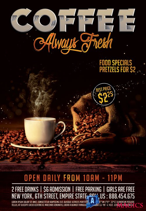 COFFEE FRESH – PREMIUM FLYER PSD TEMPLATE