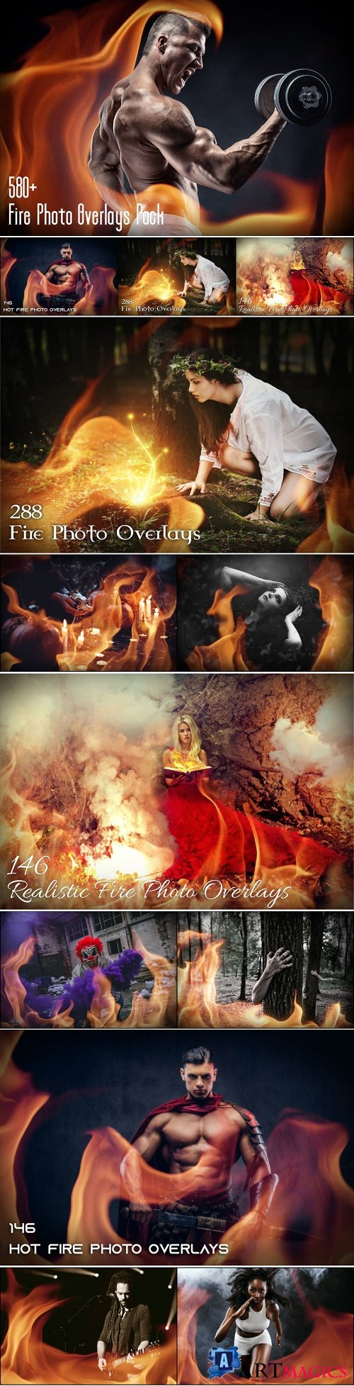 580+ Fire Photo Overlays Pack - 3584609