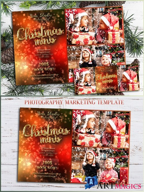 Christmas Mini Session Template Facebook timeline - 270465