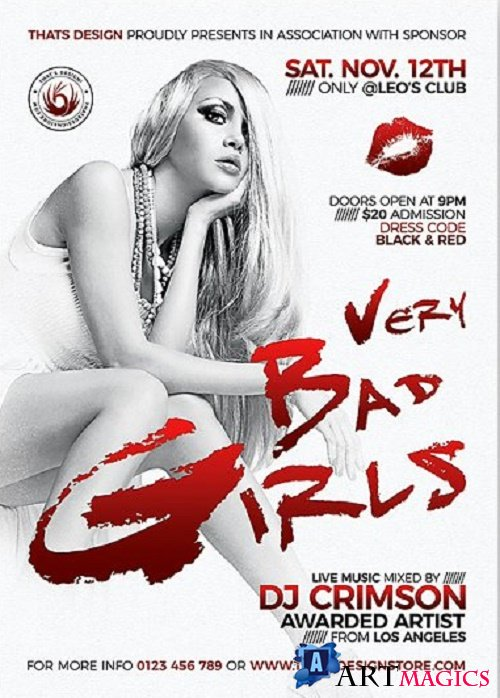 Bad Girls Flyer Template - 241541