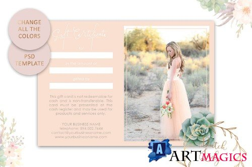 PSD Photo Gift Card Template #18 - 3861000