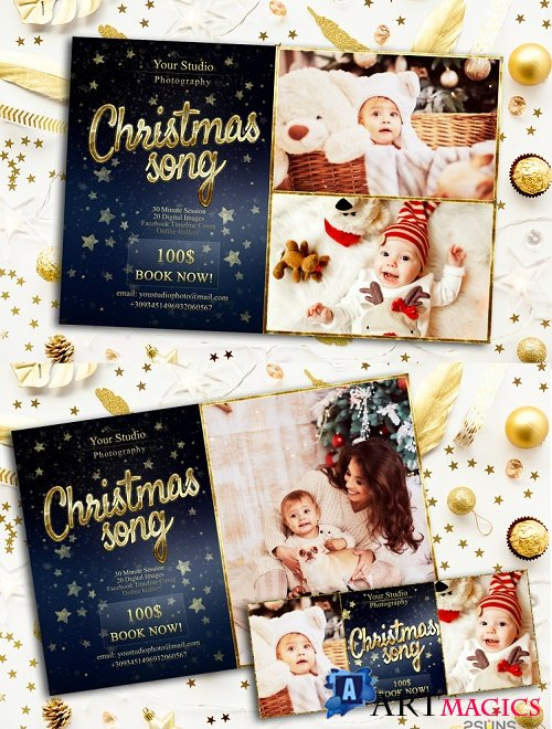 Christmas Mini Session Template Facebook timeline - 273418