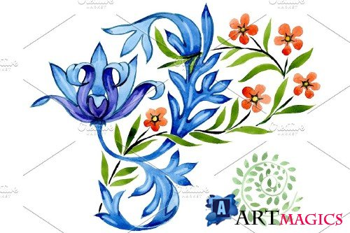 Ukrainian floral ornament, national - 3869681