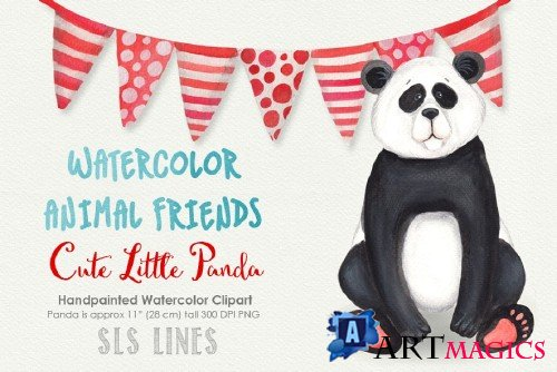 Panda Bear Watercolors - 1100753