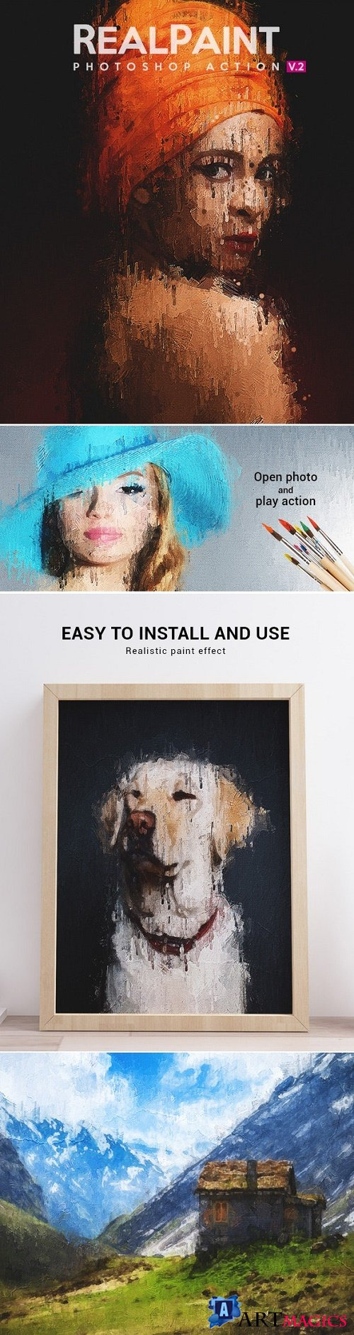 Real Paint V.2 - Photoshop Action 23951125