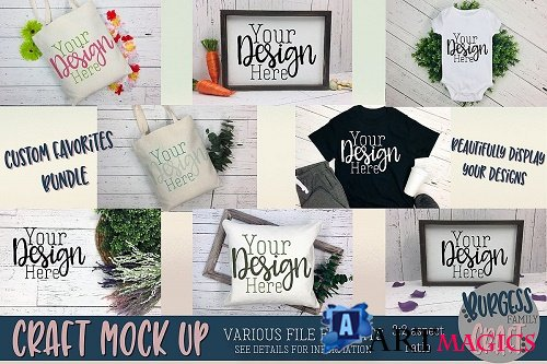 Custom Favorites Craft mock up Bundle - 223526