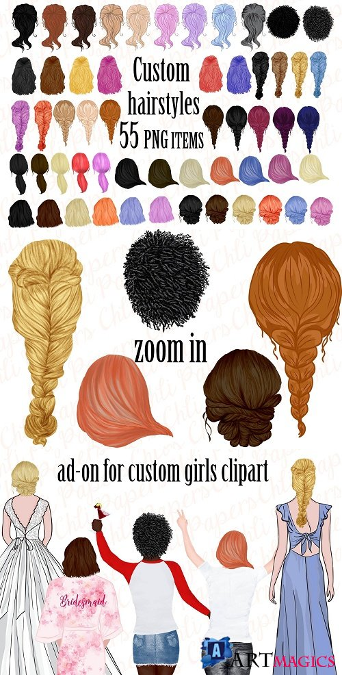 Custom Hairstyles, Hair clip art - 3960735