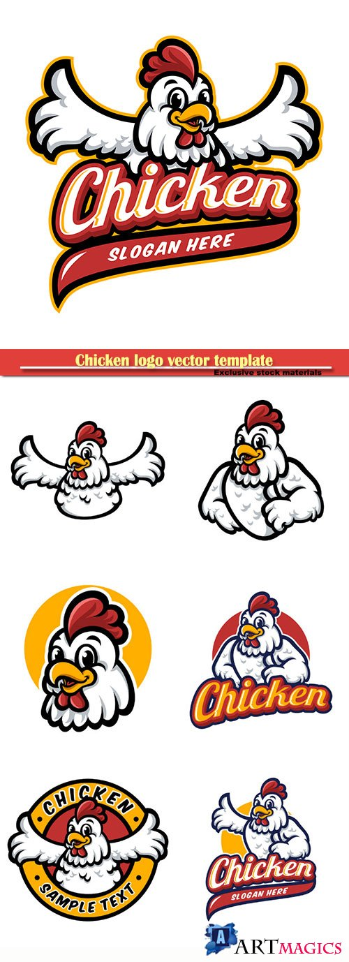 Chicken logo vector template