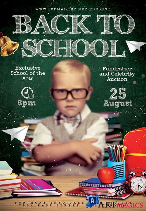 Back to school kids - Premium flyer psd template