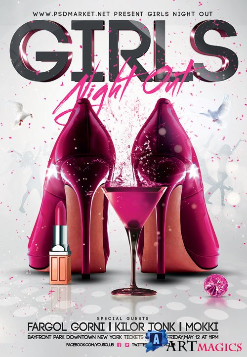 Girls night out - Premium flyer psd template