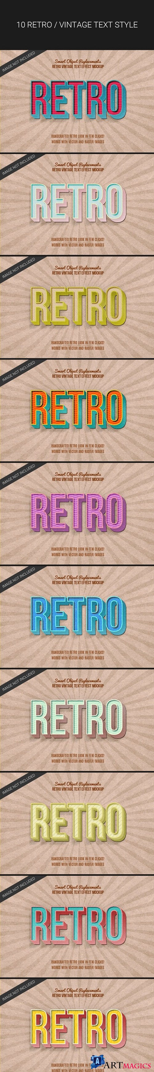 3D Retro Vintage Text Effects - 24381860