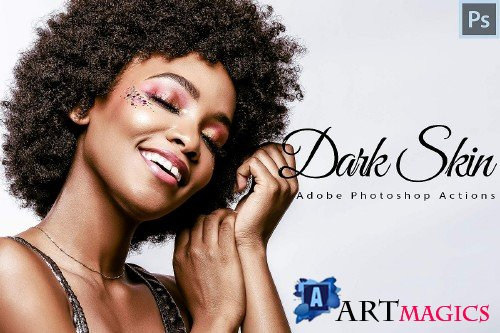 6 Dark Skin Photoshop Actions - 339445