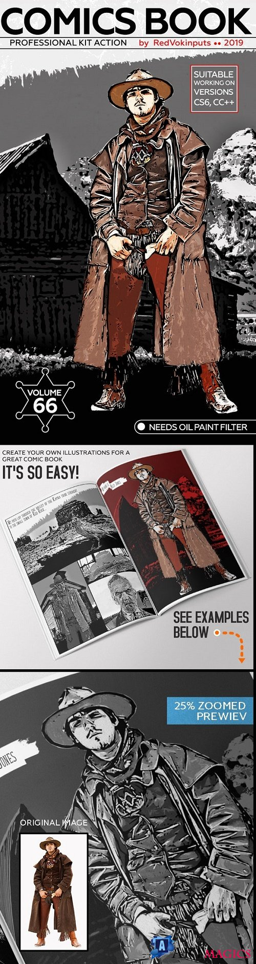 Comics Book Kit Photoshop Action 24261296