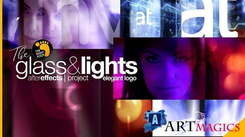 Glass & Lights Elegant Logo - Project for After Effects (Videohive)