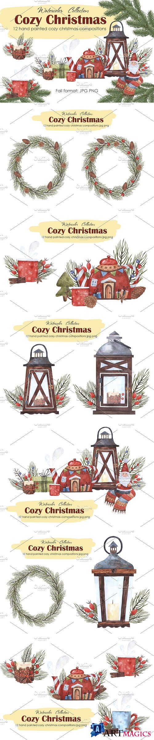 Cozy Christmas compositions - 4151467