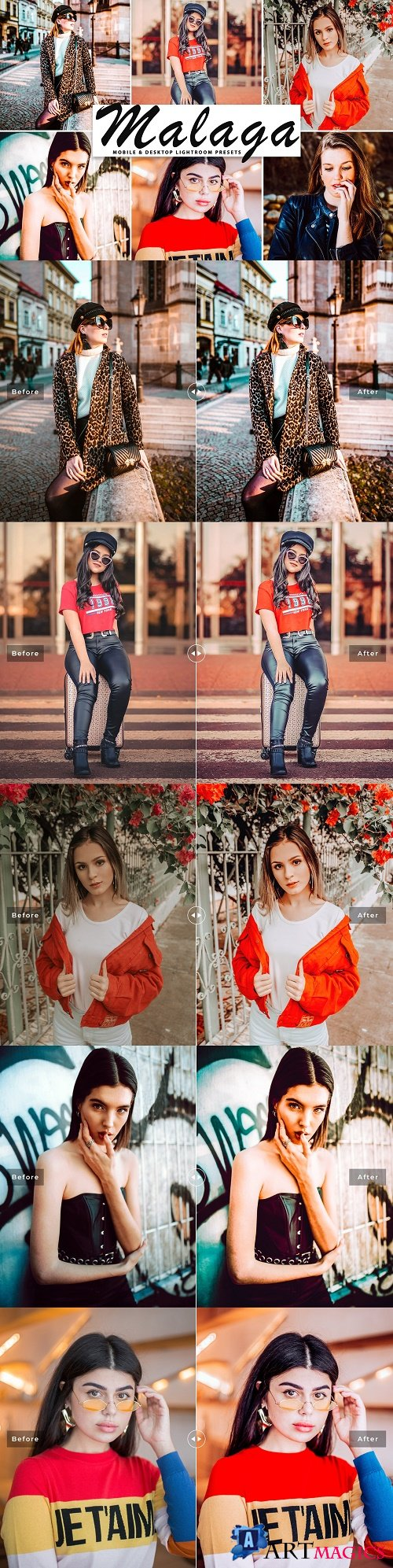 Malaga Lightroom Presets Pack - 4153755