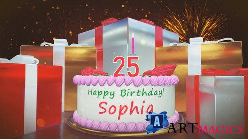 Happy Birthday Sophia - After Effects templates
