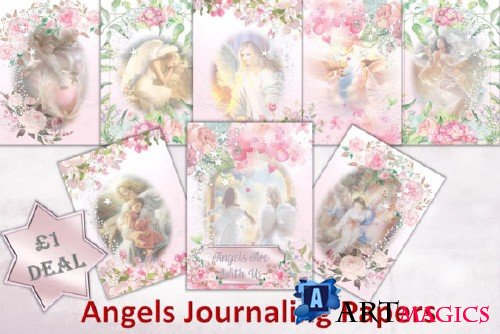 Angels Background Journal Pages