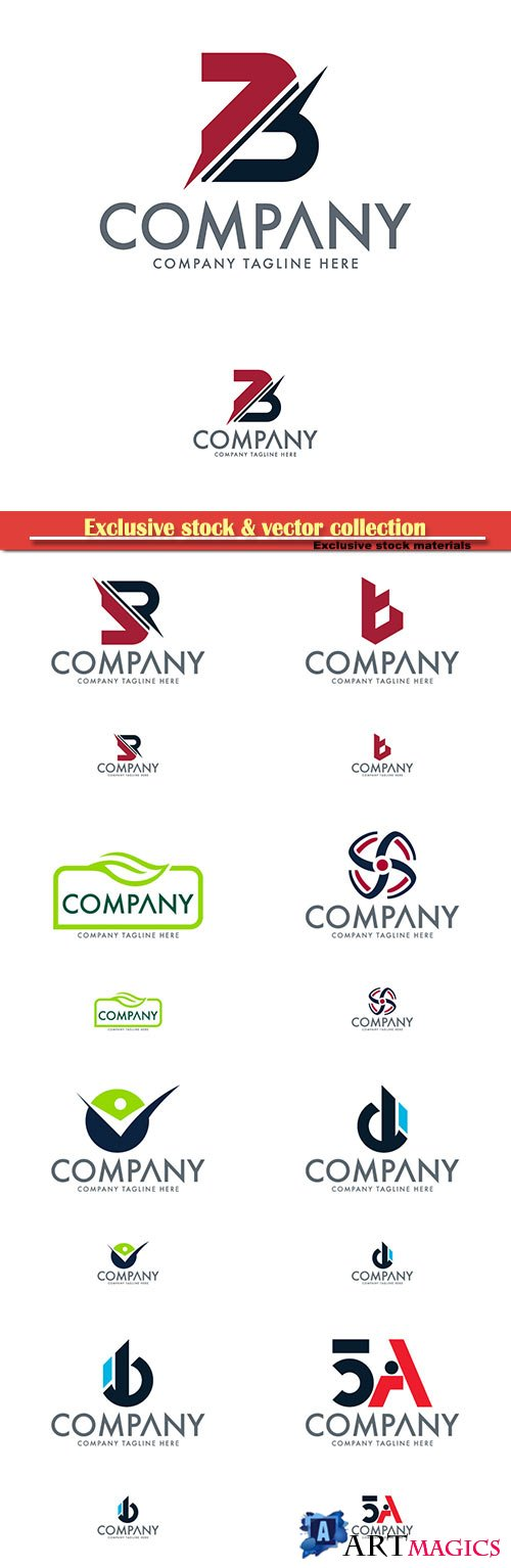 Logo vector template business set # 66