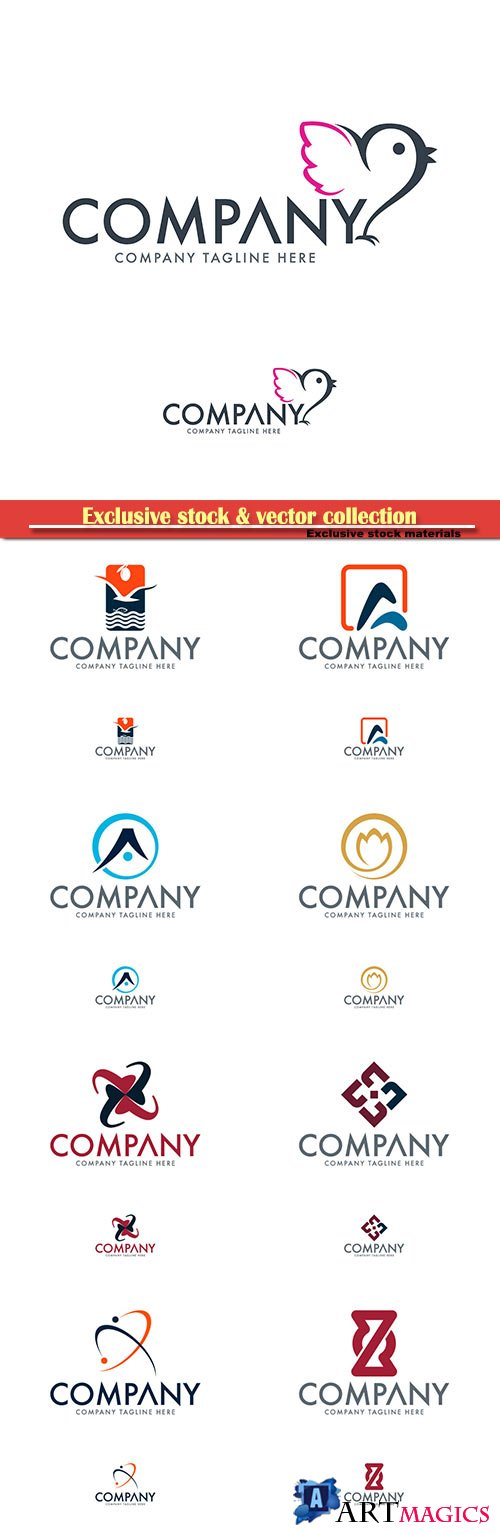 Logo vector template business set # 63