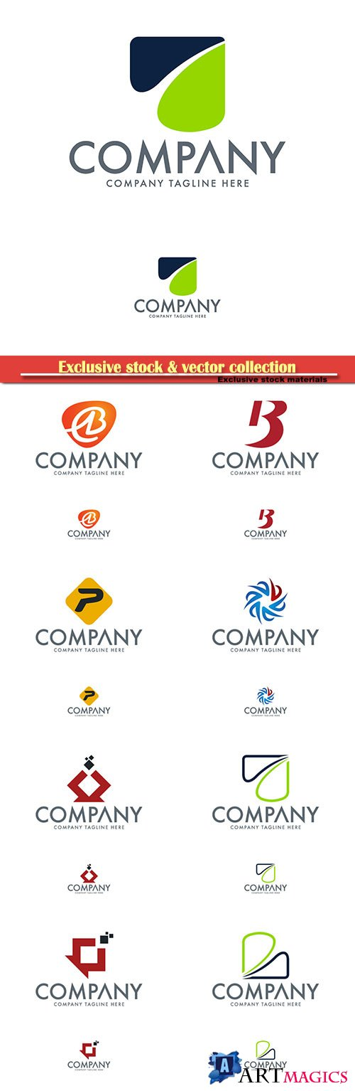 Logo vector template business set # 65