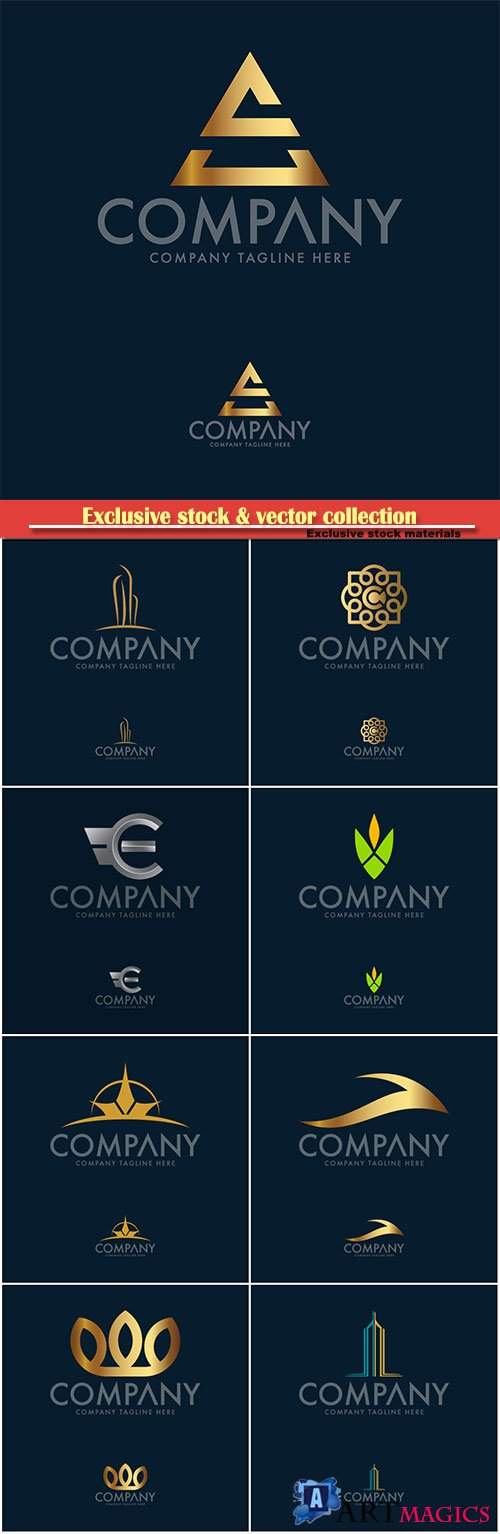 Logo vector template business set # 67