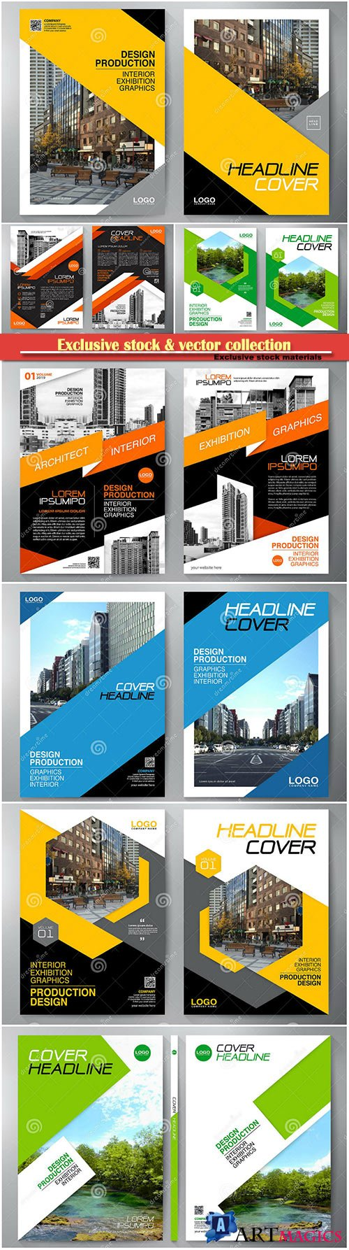 Business brochure, flyer design, leaflets a4 template, cover book