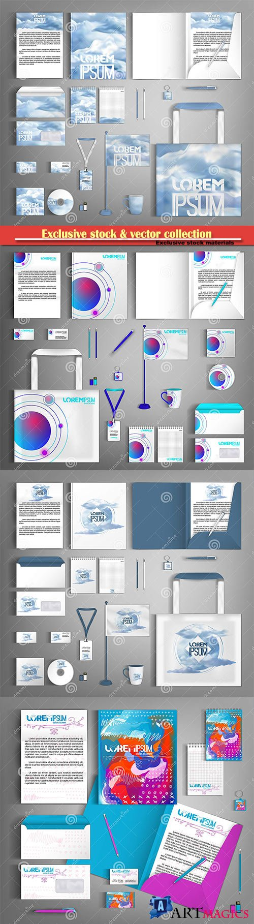 Vector design set of corporate identity