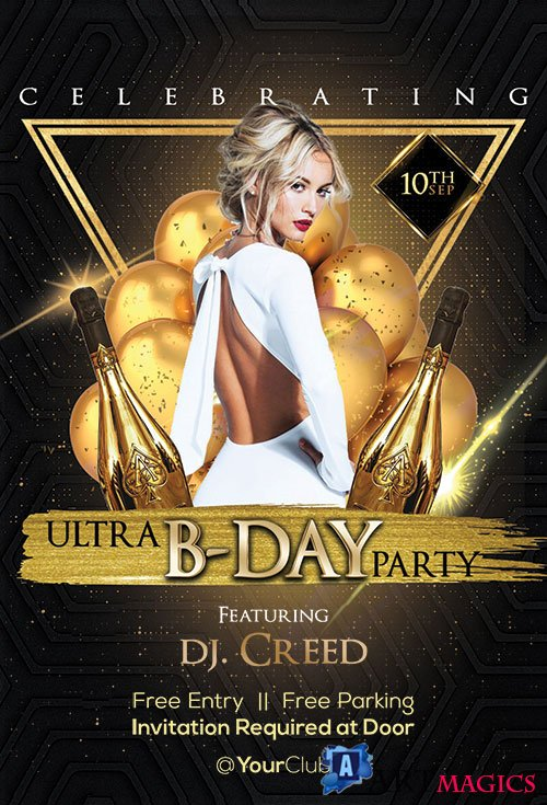 Bday Party - Premium flyer psd template
