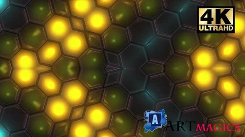 Videohive - Color Full Honeycomp Vj Pack - 24926290