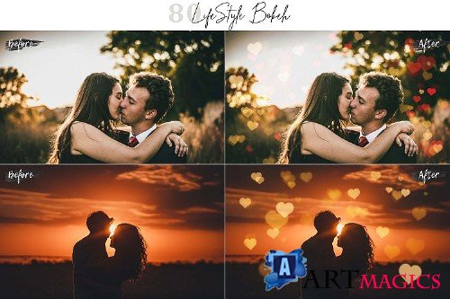 80 LifeStyle Bokeh lights Pack 03 Effect Photo Overlays 384892